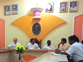 Foto: IEEM Workshop Eröffnung in der City Hall der Stadt Tiruvannamalai am 22.09.2014